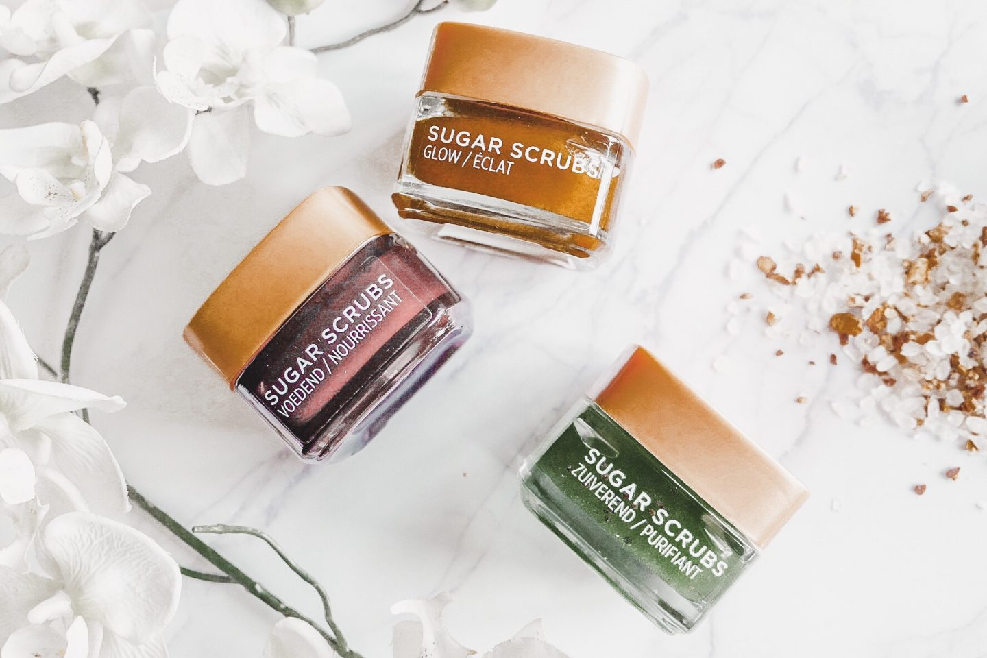 SCRUB AWAY WITH THE NEW SUGAR SCRUBS BY L'OREAL